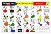 Alphabet Write-A-Mat, Package of 6