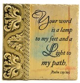 Your Word Is A Lamp Unto My Feet Plaque