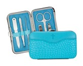 Manicure Set, Blue with Scripture