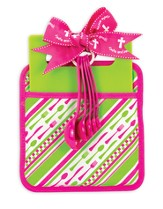 Taste and See, Pink and Green Kitchen Set