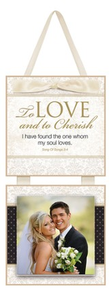 To Love and to Cherish Photo Plaque