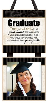 Graduate, Trust in the Lord Photo Plaque