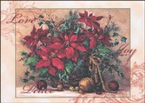 Poinsettia Basket Deluxe Box Christmas Cards, Box of 20