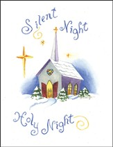Silent Night Christmas Card, Pack of 5
