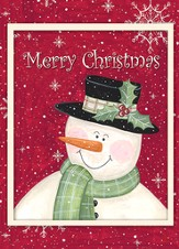 Holly Snowman Deluxe Box Christmas Cards, Box of 20