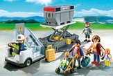 PLAYMOBIL ® Aircraft Stairs with Passengers and Cargo Playset