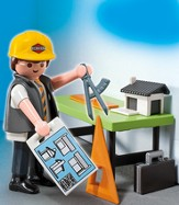 PLAYMOBIL ® Architect with Planning Table Accessory