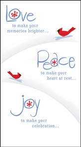 Love Peace Joy Christmas Cards, Box of 16 - Slightly Imperfect