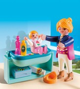Playmobil Mother and Child with Changing Table Accessory