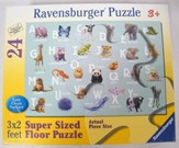 Animal Alphabet Floor Puzzle, 24 Pieces