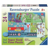 Counting Animals Floor Puzzle, 24 Pieces