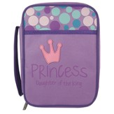 Princess, Daughter Of the King Bible Cover, Purple, Medium