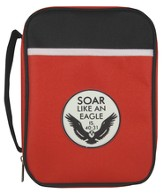 Eagle Emblem Bible Cover, Red, Medium