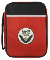 Eagle Emblem Bible Cover, Red, Large