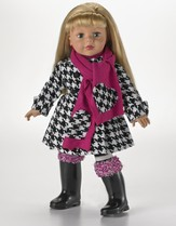 Dressed in Houndstooth, 18 Doll