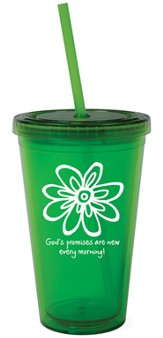 God's Promises are New Reusable Cup with Straw