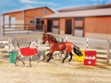 Stablemates, Hospital, with Two Horses