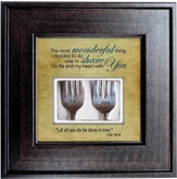 Most Wonderful Things, Share My Life Framed Print