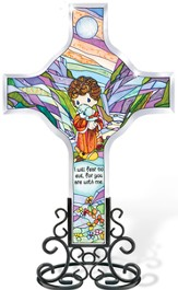 I Will Fear No Evil Cross Suncatcher, Precious Moments
