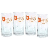 Give Thanks to the Lord, Set of 4 Drinking Glasses