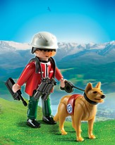 PLAYMOBIL ® Mountain Rescuers with Search Dog