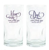 Mom, Dad Drinking Glasses, Set of 2