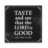 Taste & See Glass Cutting Board with Scripture