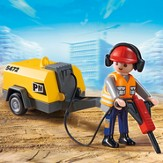 PLAYMOBIL ® Construction Worker with Jack Hammer