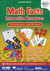 Math Facts, Multiplication and Division Interactive Resources CD-ROM