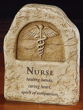 Nurse, Healing Hands Plaque