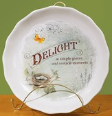 Delight is Simple Graces Pie Plate