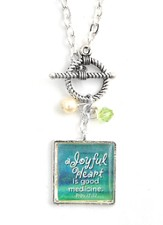 A Joyful Heart is Good Medicine Necklace