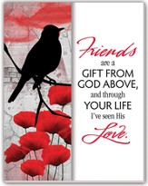 Friends are a Gift From God Glass Plaque