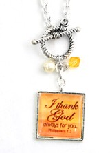 I Thank God Always for You Necklace