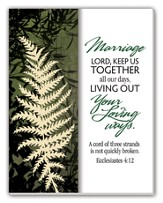 Marriage, God Keep Us Together Glass Plaque