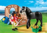PLAYMOBIL ® Black Stallion with Stall