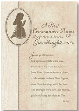 A First Communion Prayer Card, Granddaughter, Pack of 6