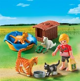PLAYMOBIL ® Cat Family with Basket