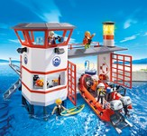 PLAYMOBIL ® Coast Guard Station with Lighthouse Playset
