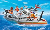 PLAYMOBIL ® Rescue Boat with Water Hose Playset