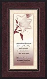 Comforting Thoughts, In Memory , Matthew 5:4, Framed Print