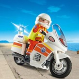 PLAYMOBIL ® Emergency Motorcycle with Light Playset