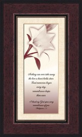 Comforting Thoughts, Remembrance , Philippians 1:3, Framed Print
