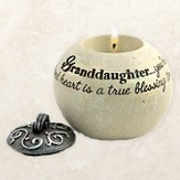 Granddaughter You're A Special Gift, Round Tealight Holder