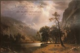 Your Righteousness Is Life the Mighty Mountains Framed Art