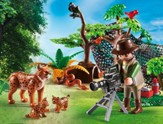 Playmobil Lynx Family with Cameraman Accessory