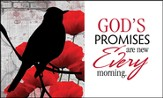 God's Promises Are New Every Morning Glass Plaque