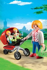 PLAYMOBIL ® Mother with Twin Stroller Playset