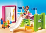 PLAYMOBIL ® Children's Room with Loft Bed & Slide Playset