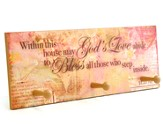 Within This House May God's Love Abide Triple Hook Plaque